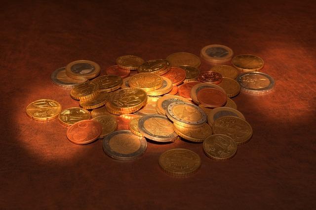 Coins euro specie.