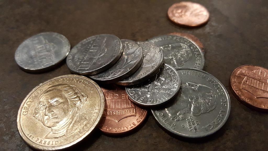 Coins finance saving, business finance.