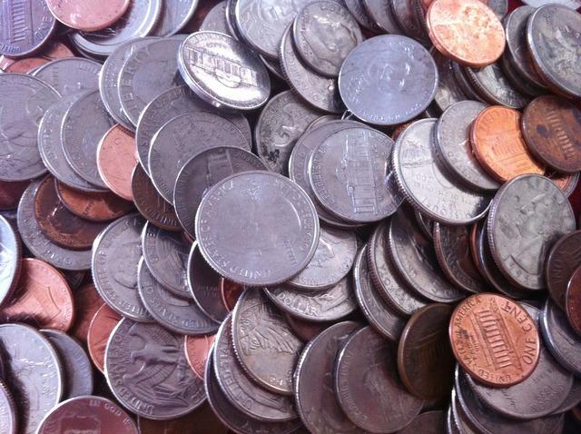 Coins money change, business finance.