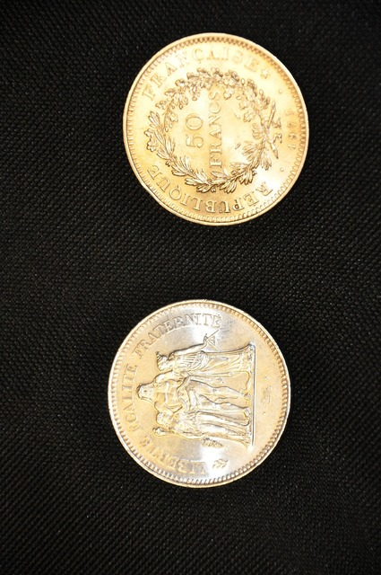 Coins silver franks.