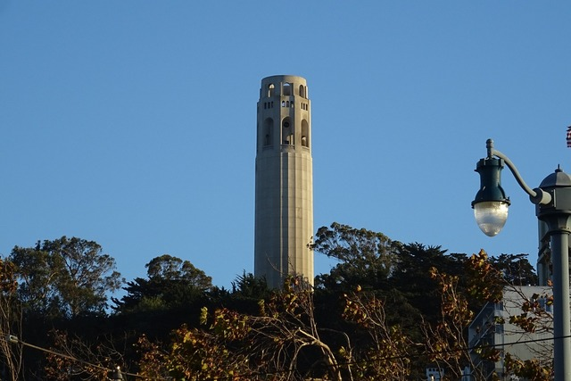 Coit tower telegraph hill tower, places monuments.
