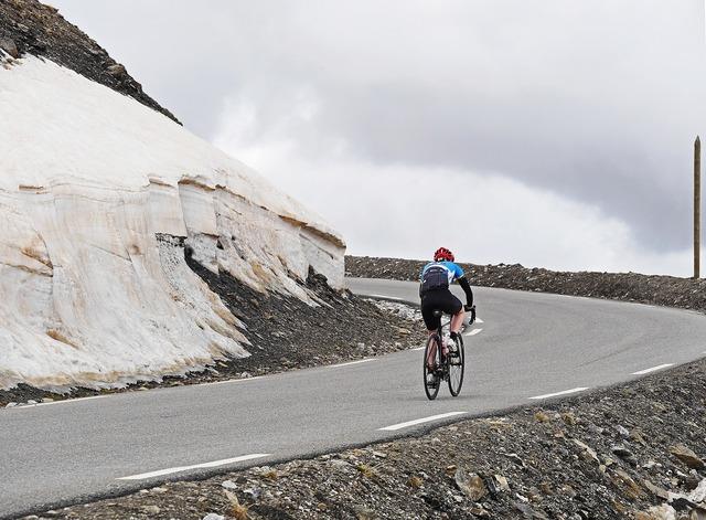 Col de la bonette june mountain pass.