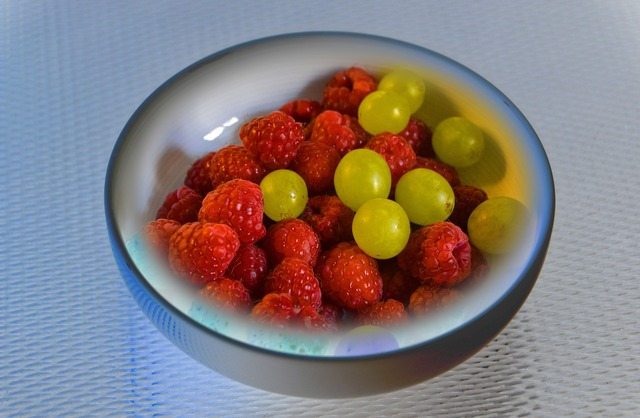 Cold dish lunch fruit, food drink.