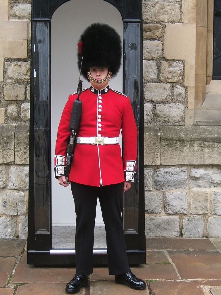 Coldstream guard tower of london historical.