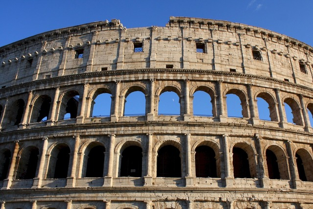 Coliseum historic ancient, architecture buildings.