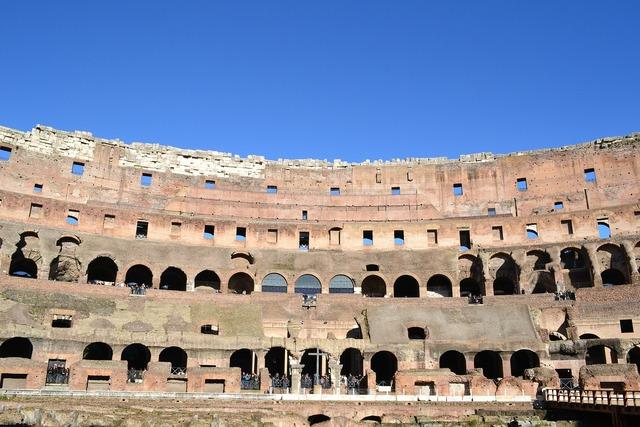 Coliseum rome arcades.