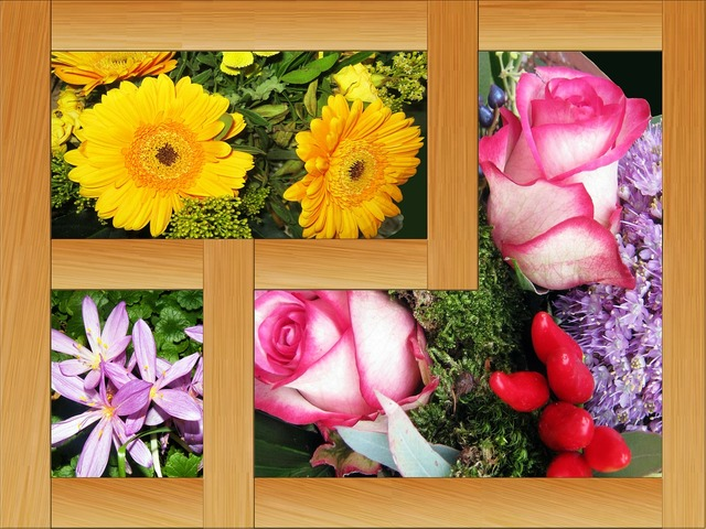 Collage picture frame autumn.