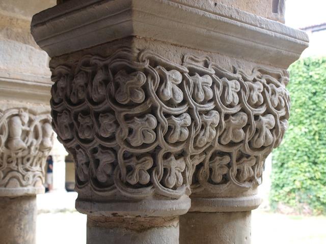 Collegiate church cloister santa juliana, architecture buildings.