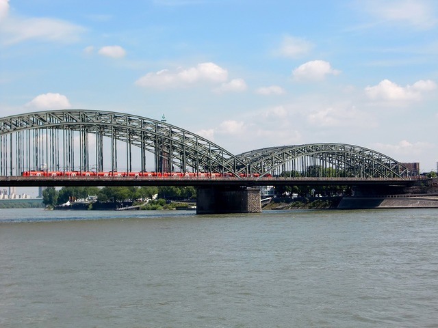 Cologne bridge rhine.