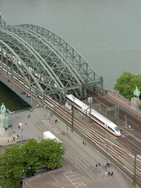 Cologne bridge rhine.
