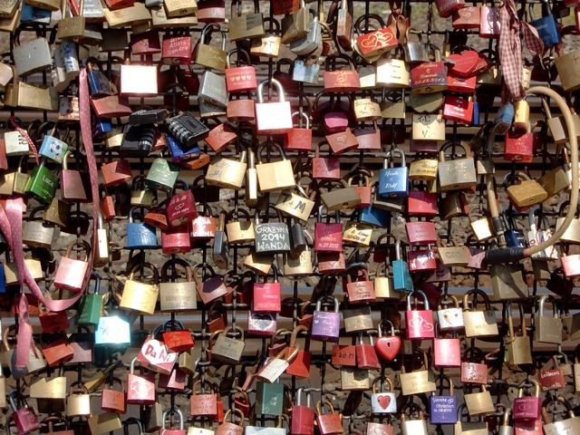 Cologne castles padlocks, emotions.