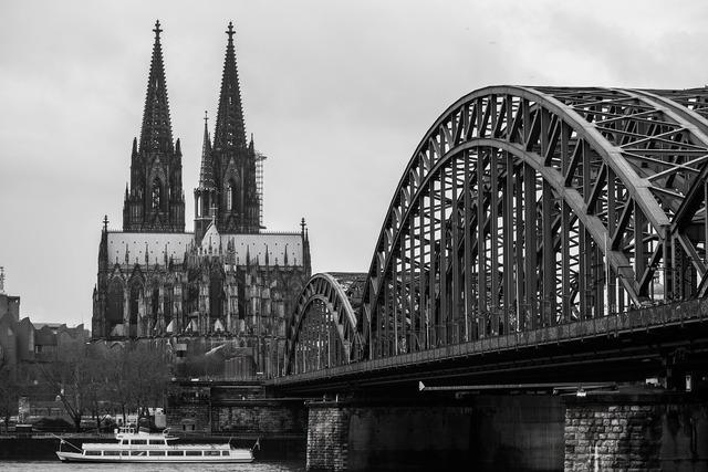 Cologne cathedral bridge church, religion.