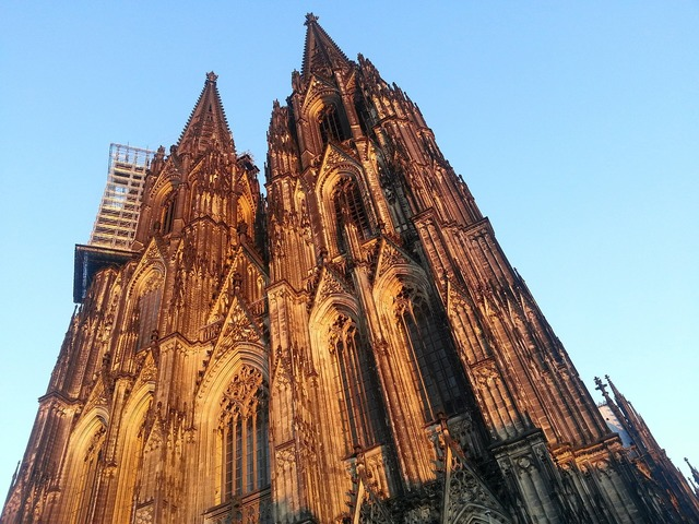 Cologne cathedral cologne evening sun, religion.
