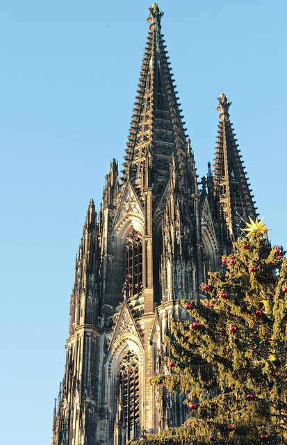 Cologne cathedral dom christmas, architecture buildings.