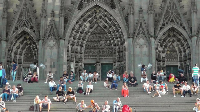 Cologne cathedral stairs dom, architecture buildings.