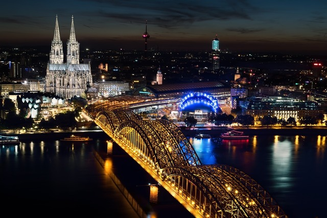 Cologne cologne cathedral hohenzollern bridge.