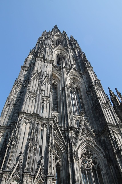 Cologne cologne cathedral tower, religion.