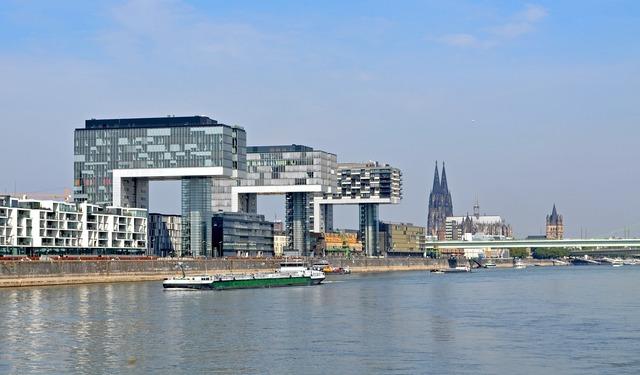Cologne crane homes landmark, places monuments.