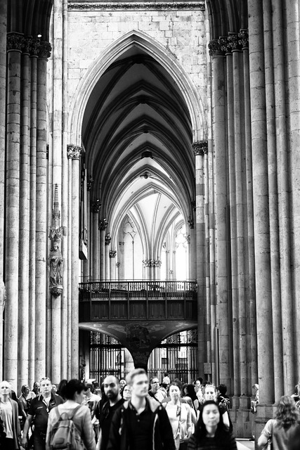 Cologne dom light, places monuments.