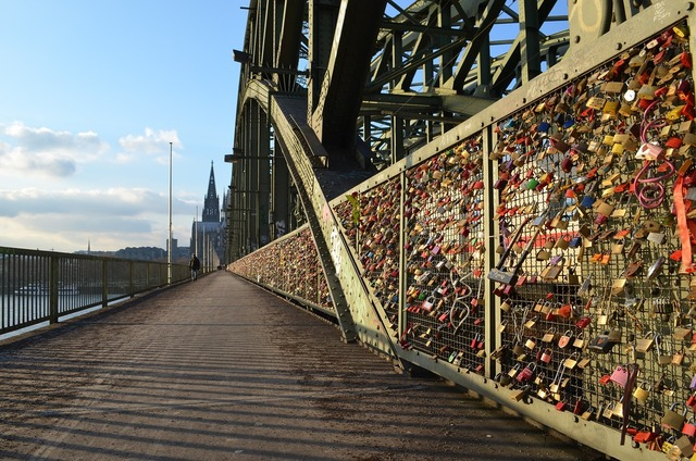 Cologne panorama hohenzollern bridge cologne cathedral.