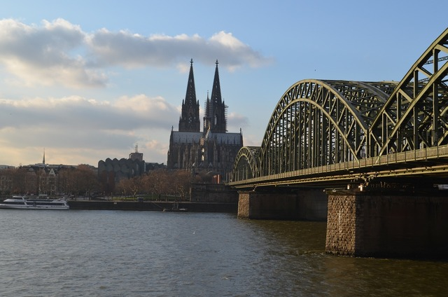 Cologne panorama hohenzollern bridge cologne cathedral, architecture buildings.