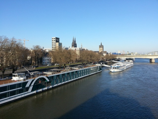 Cologne rhine panorama.