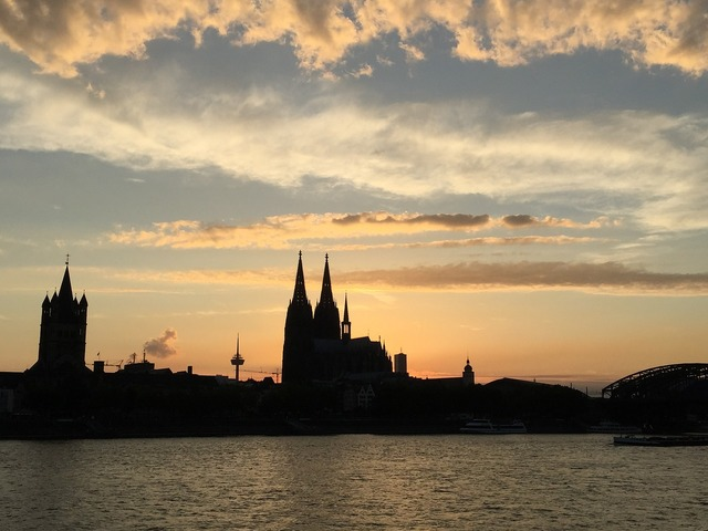 Cologne summer dom, travel vacation.