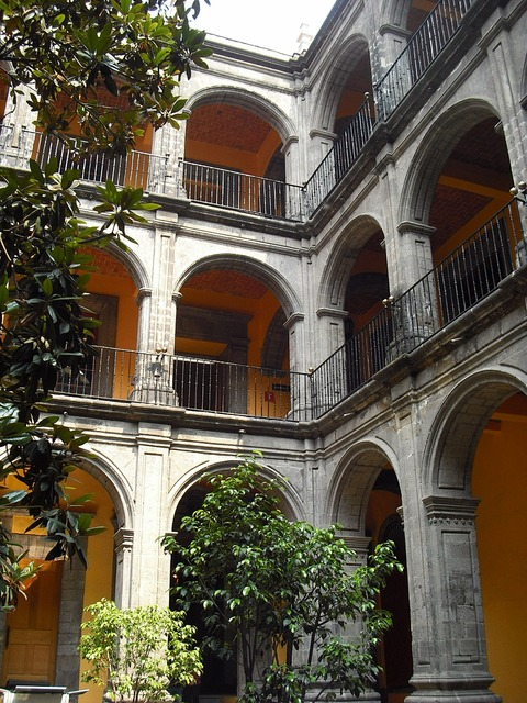 Colonial mexico historical, architecture buildings.