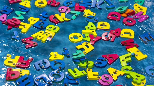 Color alphabet plastic, business finance.