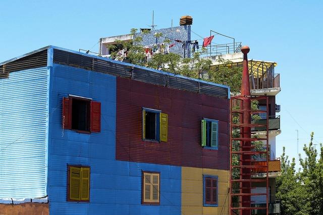 Colorful building house, architecture buildings.
