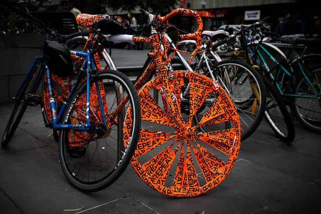Colorful melbourne bicycle, sports.