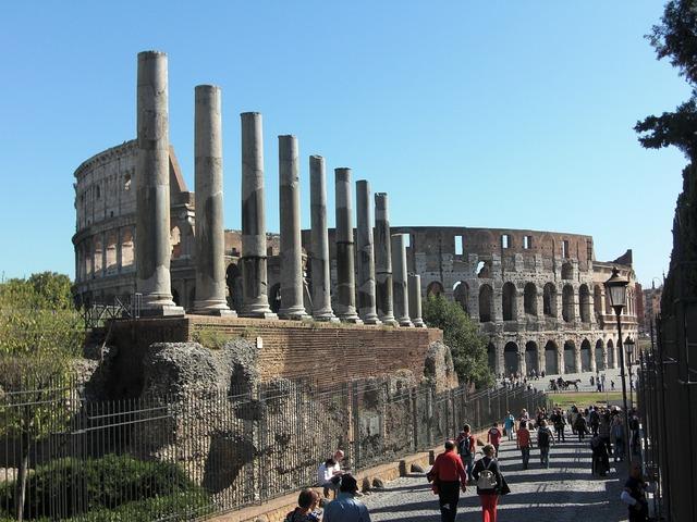 Colosseum rome columnar, architecture buildings.