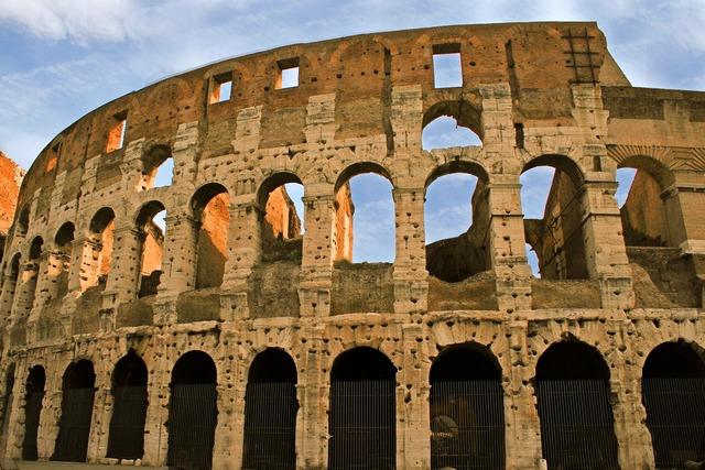 Colosseum ruin rome, architecture buildings.
