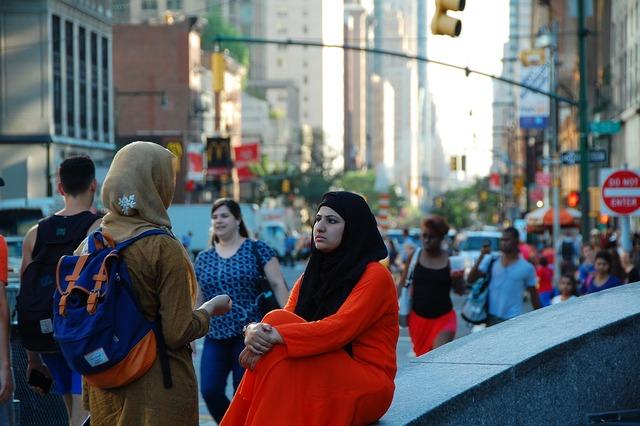 Columbus circle new york muslim women.