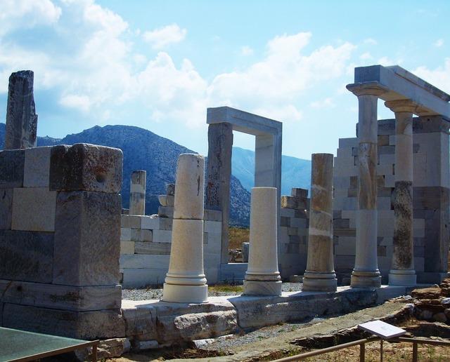 Column ancient ruins ruins, travel vacation.