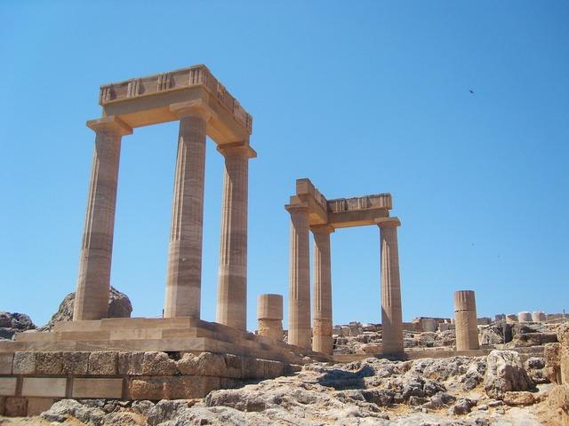 Column ruins greek columns, architecture buildings.