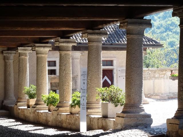 Columnar arcades monastery.