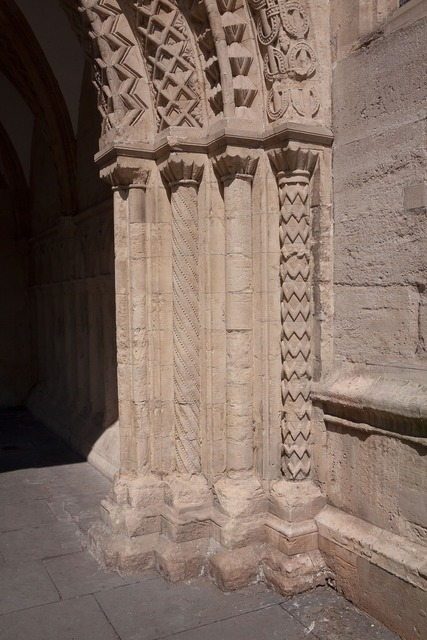 Columnar norman gatehouse, architecture buildings.