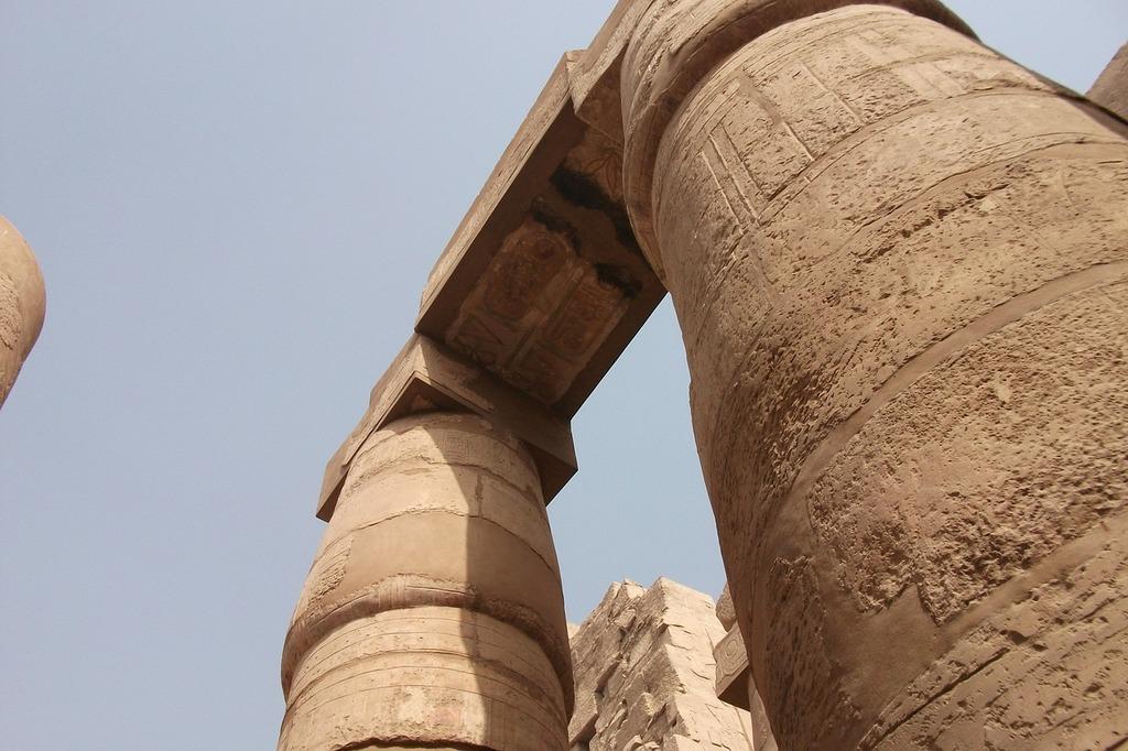 Columnar temple egypt luxor, architecture buildings.