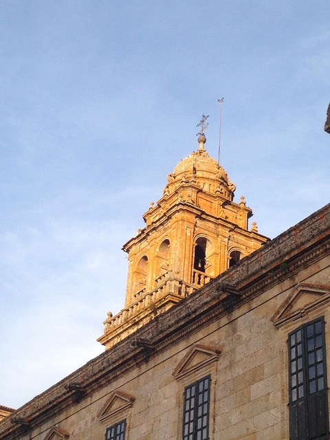 Compostela church building, religion.