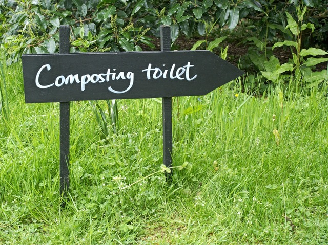Composting toilet recycle.