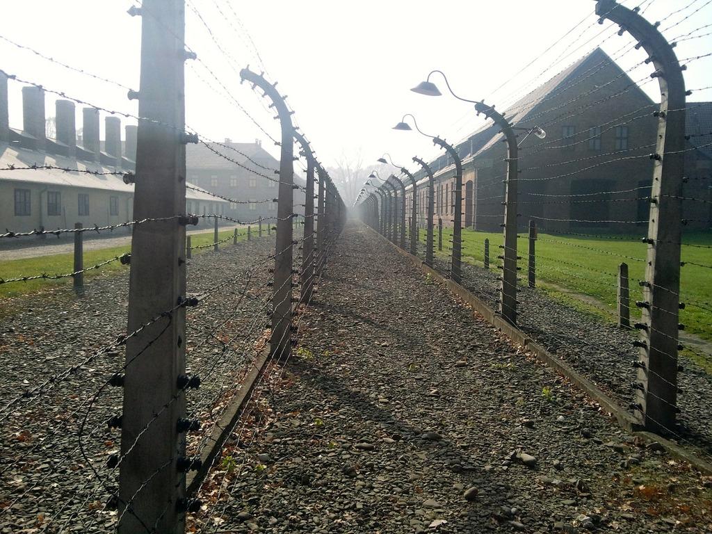 Concentration camp holocaust auschwitz, places monuments.