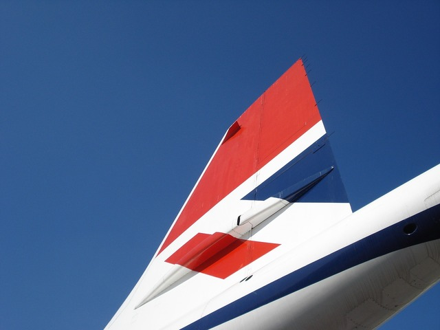 Concorde airliner aircraft, transportation traffic.