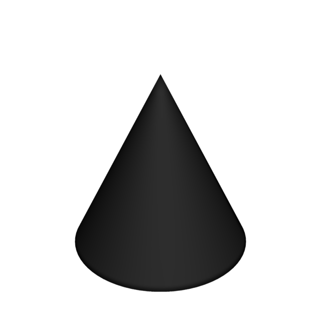 Cone cone-shaped shape.