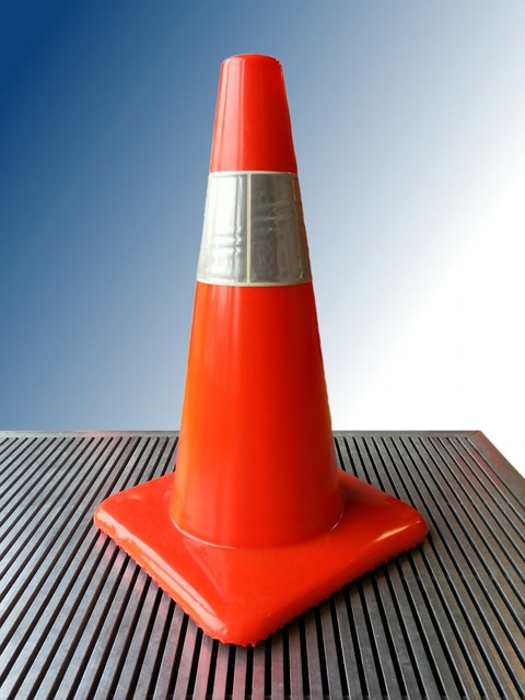 Cone traffic construction, transportation traffic.
