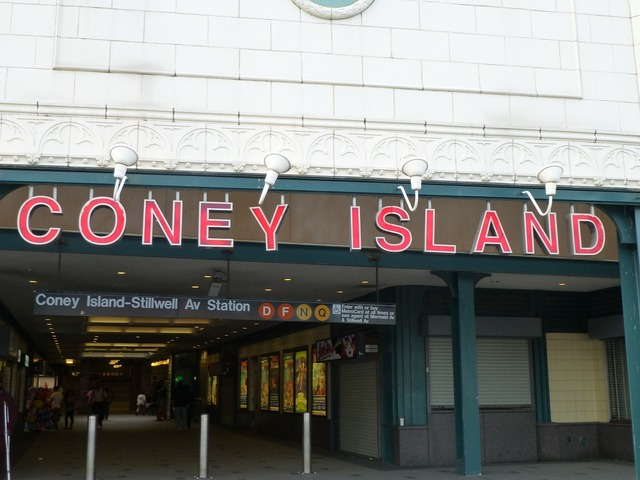 Coney island brighton beach usa.