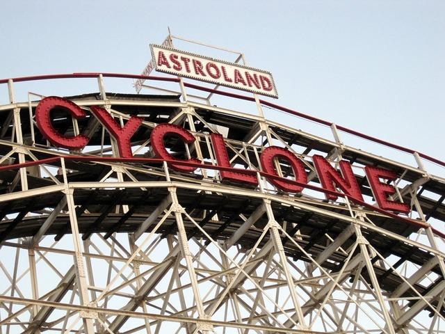 Coney island brooklyn roller coaster.