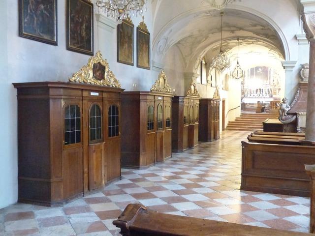Confessional confession catholic church.