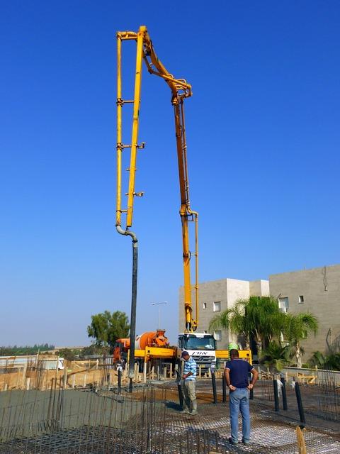 Construction concrete pump concrete.