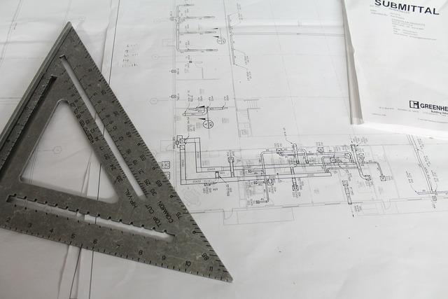 Construction plans square, architecture buildings.